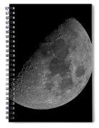 Moon 61 Percent Spiral Notebook