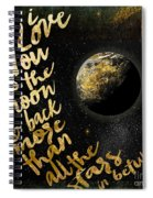 Moon And Back Stars Night Spiral Notebook