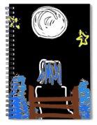Moon And Beach Watcher On Martha's Vineyard Spiral Notebook