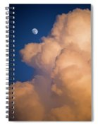 Moon And Cloud Spiral Notebook
