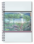 Moon And Forest Spiral Notebook