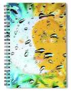 Moon And Sun Rainy Day Windowpane Spiral Notebook