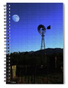 Moon And Windmill Spiral Notebook