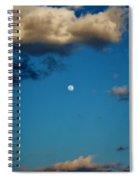 Moon Between The Clouds Spiral Notebook