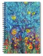 Moon Flowers Spiral Notebook