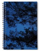 Moon Hiding In The Tree Spiral Notebook