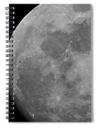 Moon In B And W Spiral Notebook