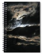 Moon In The Clouds Over Kentucky Lake Spiral Notebook