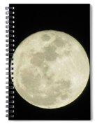 Moon In The Dark Sky Spiral Notebook