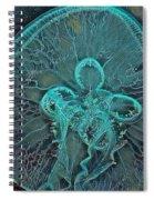 Moon Jellyfish Art Spiral Notebook