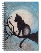 Moon Kitty Spiral Notebook
