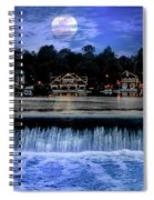 Moon Light - Boathouse Row Philadelphia Spiral Notebook