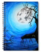 Moon Lit Spiral Notebook