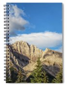 Moon Over Canmore Alberta Spiral Notebook