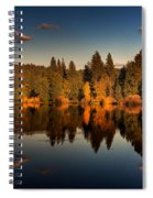 Moon Over Mill Pond Spiral Notebook