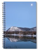 Moon Over Mont Saint Hilaire  Spiral Notebook