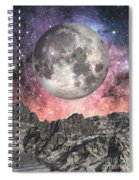 Moon Over Mountain Lake Spiral Notebook