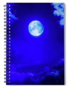 Moon Over The Mountains Spiral Notebook