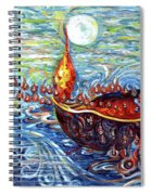 Moon Over The Ocean Spiral Notebook