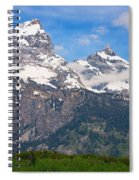 Moon Over The Tetons Spiral Notebook
