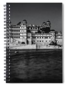 Moon Over Udaipur Bw Spiral Notebook
