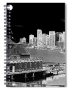 Moon Over Vancouver Spiral Notebook