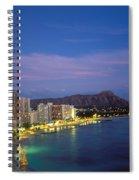 Moon Over Waikiki Spiral Notebook