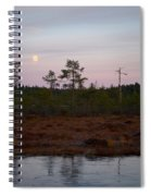 Moon Over Wetlands Spiral Notebook