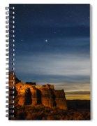 Moon Rise At Pillars Of Rome, Oregon, Usa Spiral Notebook