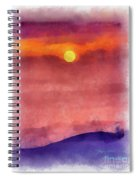 Moon Rise In Aquarelle Spiral Notebook