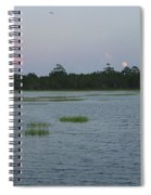 Moon Rising Over The Inlet Spiral Notebook