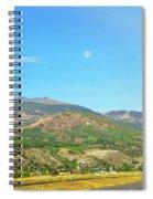 Moon Shine On Anaconda Montana  Spiral Notebook