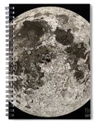 Moon Surface By John Russell Spiral Notebook