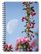 Moon Through The Crabapple Blossoms Spiral Notebook
