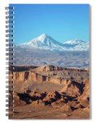 Moon Valley Atacama Desert Spiral Notebook