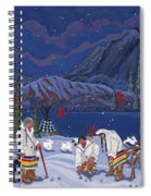 Moon When The Rivers Dream Spiral Notebook