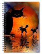 Mooncat's Catwalk Spiral Notebook