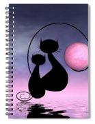 Mooncat's Love Spiral Notebook