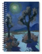 Moonlight And Joshua Tree Spiral Notebook