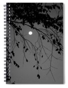 Moonlight - B And W Spiral Notebook