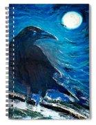 Moonlight Crow Spiral Notebook