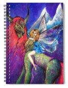 Moonlight Fairy And Her Horned Horse Spiral Notebook