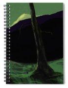 Moonlight In The Rockies Spiral Notebook