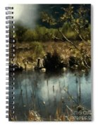 Moonlight On Canadian Lake Spiral Notebook