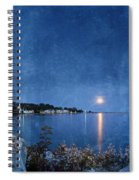 Moonlight On Mackinac Island Michigan Spiral Notebook