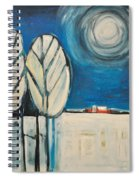 Moonlight On The First Snow Spiral Notebook