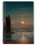 Moonlight Reflecting On Water Spiral Notebook