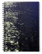 Moonlight Sparkles On The Sea Spiral Notebook