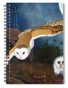 Moonlit Flight Spiral Notebook