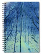 Moonlit In Blue Spiral Notebook